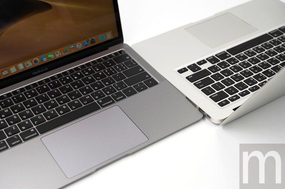 與舊款MacBook Air 13.3吋版本的鍵盤外觀差異