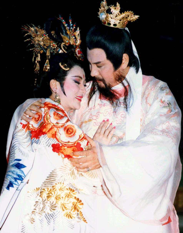 馮寶寶與宗華分飾楊貴妃與唐明皇。圖/報系資料照片