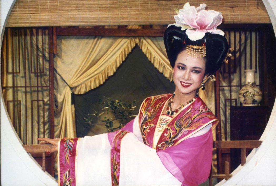 湯蘭花的楊貴妃扮相華麗。圖/報系資料照片