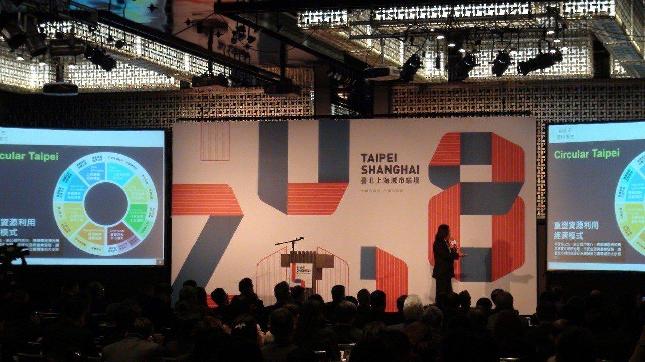 第九屆台北上海城市論壇今天在台北晶華酒店正式展開。 記者楊文琪/攝影