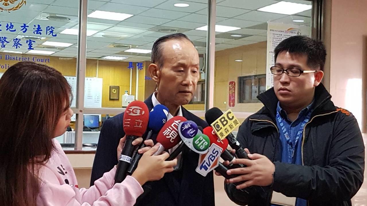 趙藤雄為大巨蛋案出庭,表示他沒掏空一毛錢。記者王聖藜/攝影