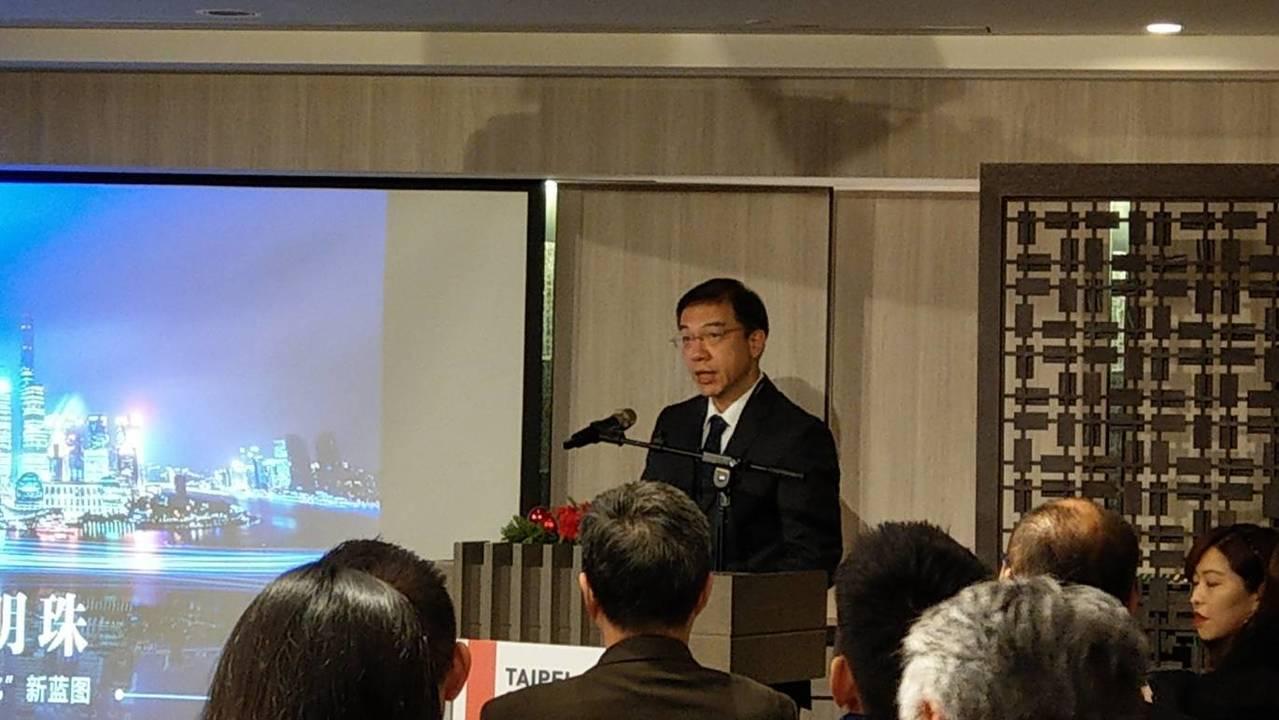 上海市文化和旅遊局副局長金雷參加雙城論壇文化分論壇。記者楊正海/攝影