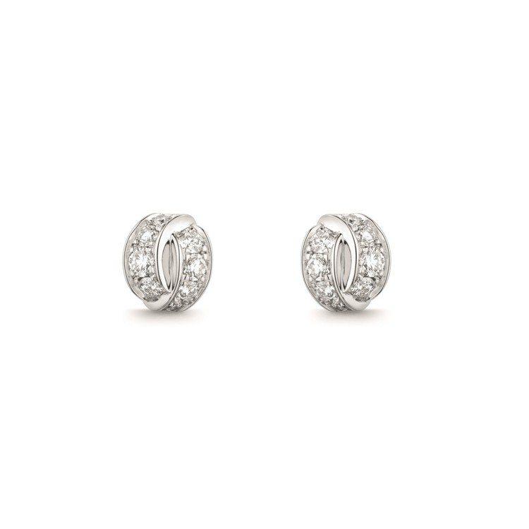 Liens Séduction 18K白金鑲鑽耳環,11萬7,000元。圖/Ch...