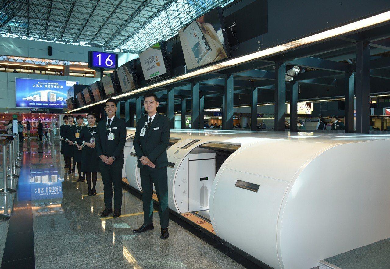 桃園國際機場持續優化旅客報到速率並強化服務品質,今(20)日正式啟用第二航廈3樓...