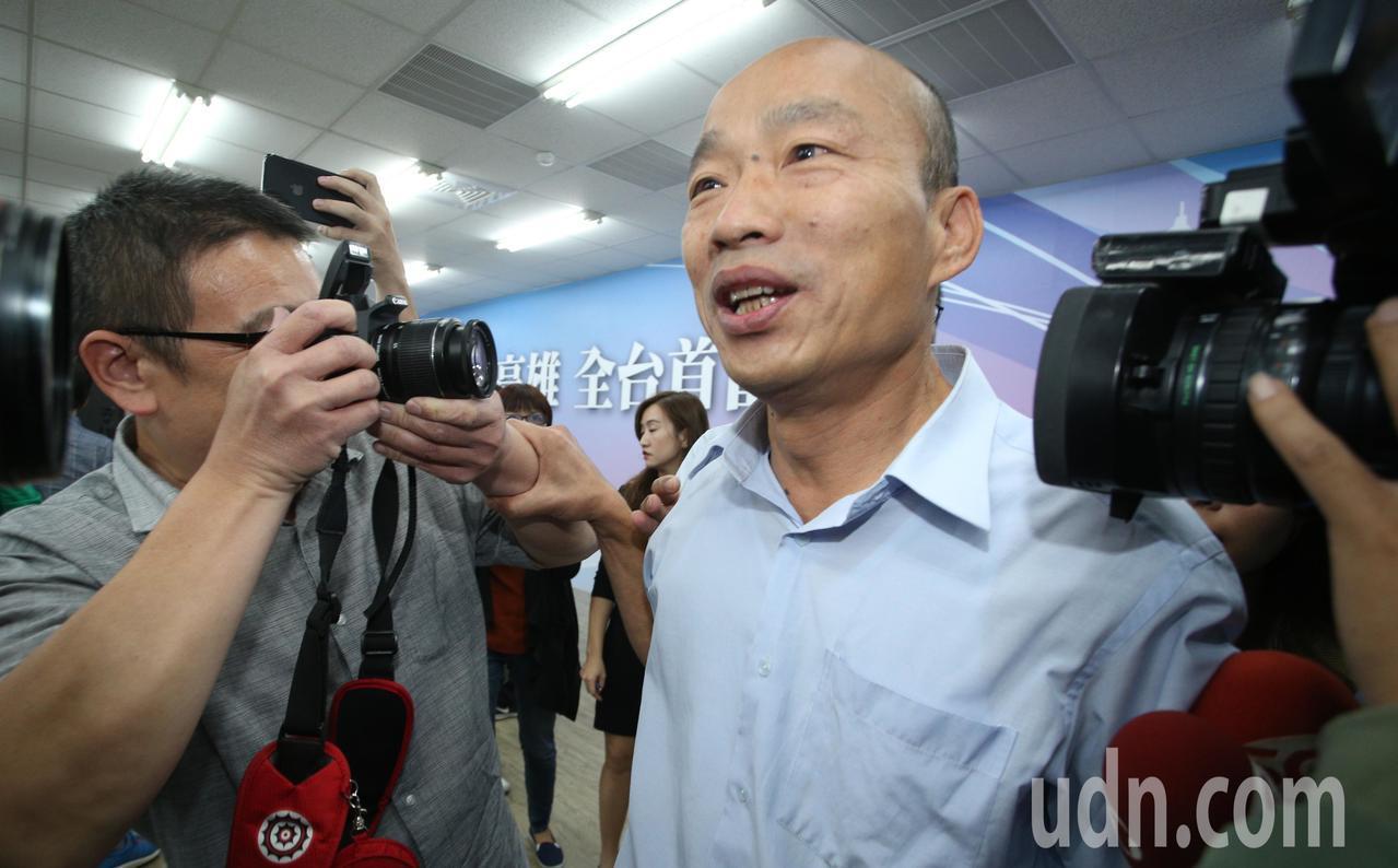 高雄市長當選人韓國瑜今天公布小內閣名單。聯合報系記者劉學聖/攝影