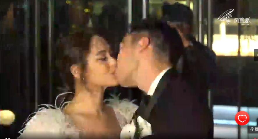 阿嬌(左)和賴弘國今舉辦婚禮。圖/摘自風直播