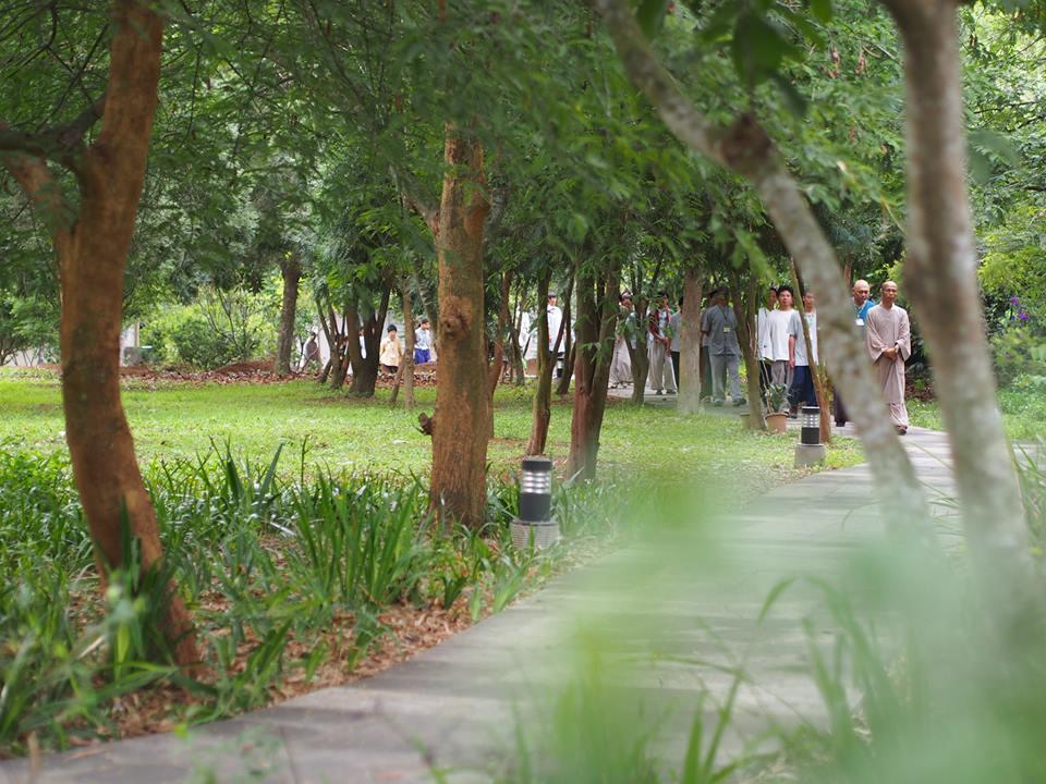 園區也是修行的道場。圖/皓月精舍提供