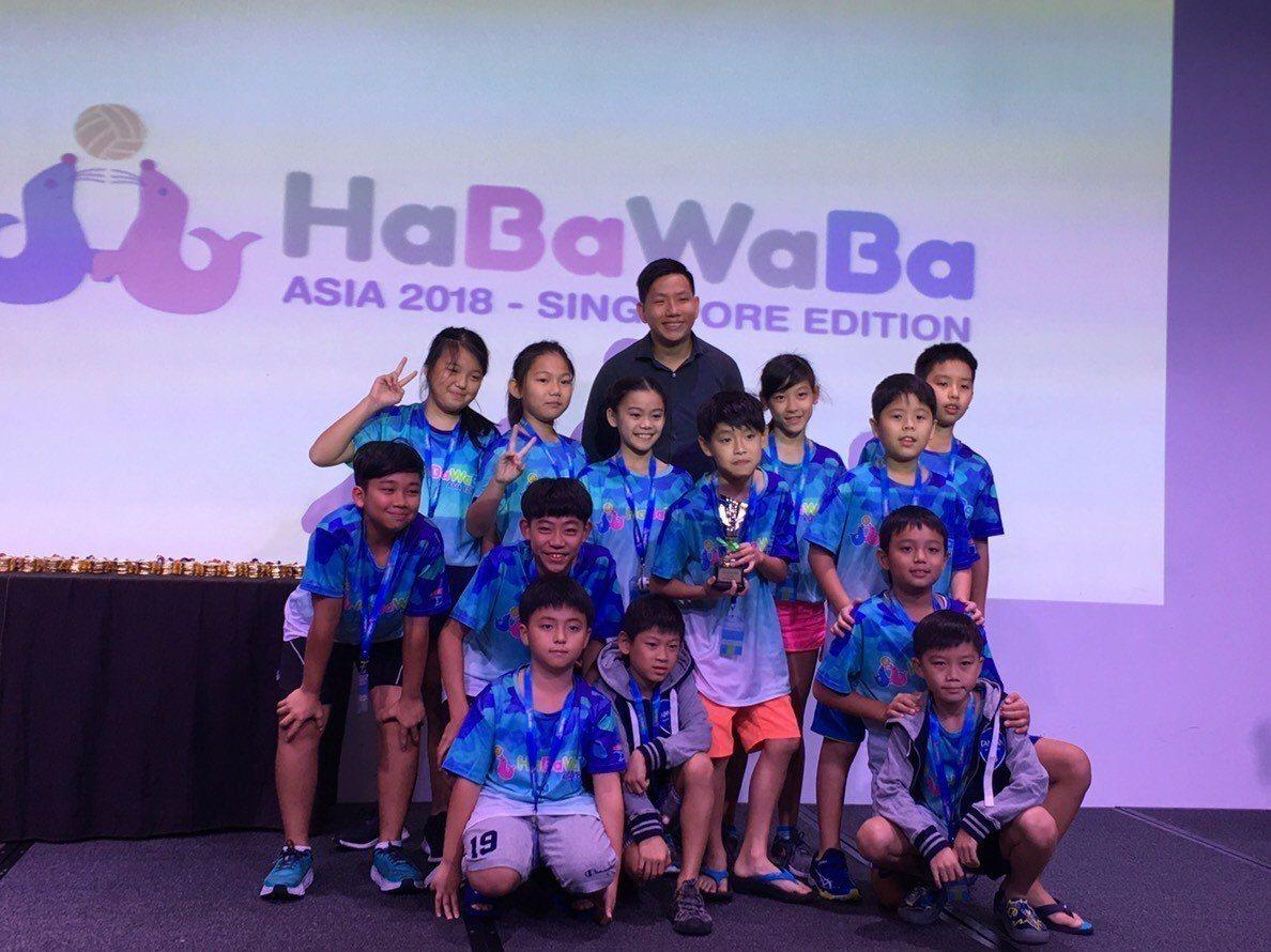 台灣水球俱樂部小將在HABAWABA世界盃水球賽新加坡亞洲站拿下第四名。圖/台灣...