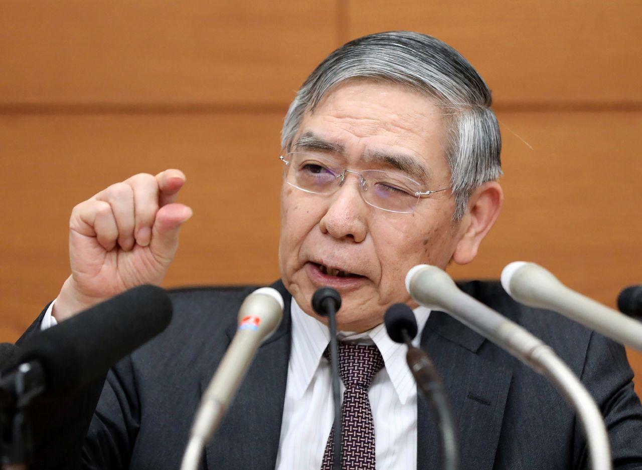 日銀總裁黑田東彥。(法新社)