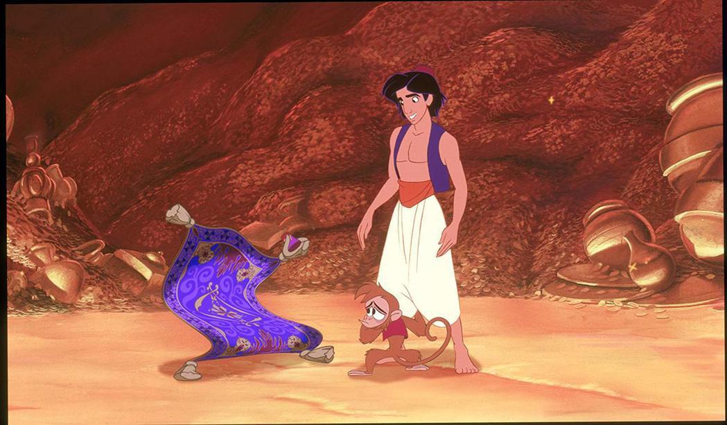 動畫版「阿拉丁」是迪士尼締造票房勝利的經典。圖/摘自imdb