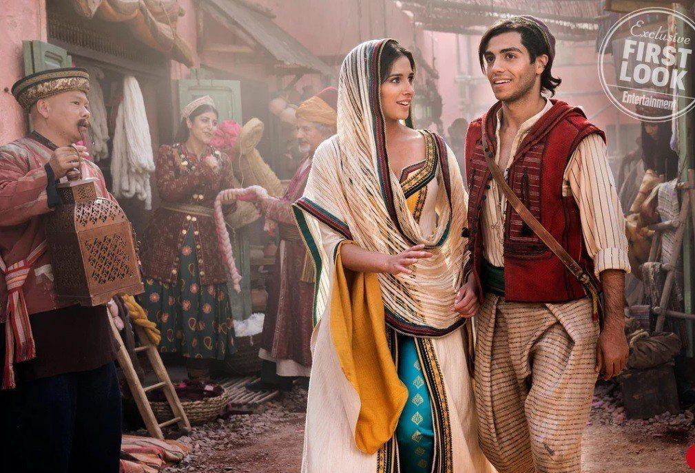 阿拉丁與茉莉公主的演員都非白人,經過精挑細選。圖/摘自EW
