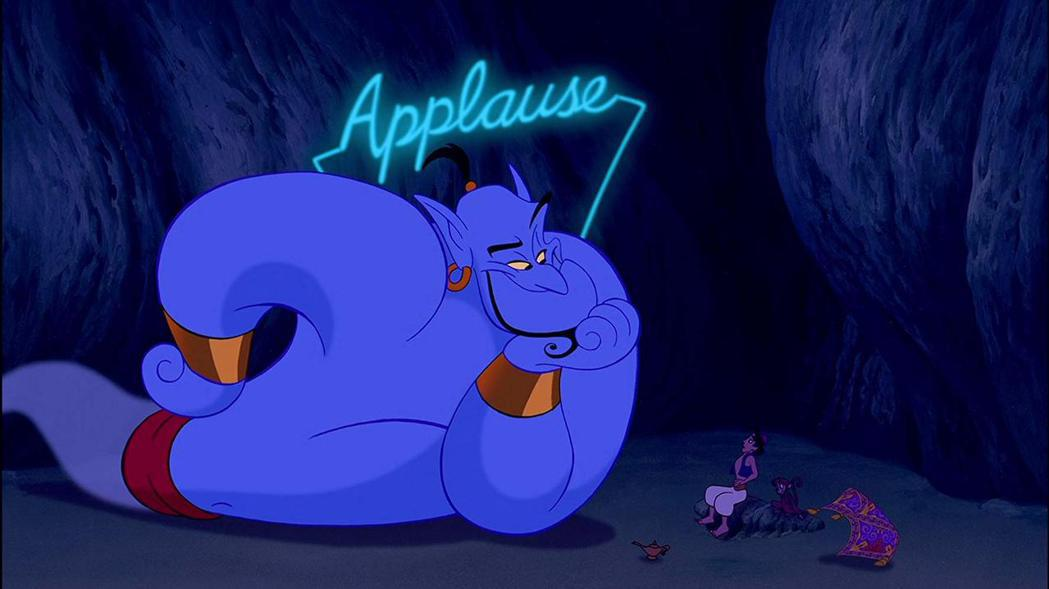 藍皮膚的精靈是「阿拉丁」賣座致勝的大功臣。圖/摘自imdb