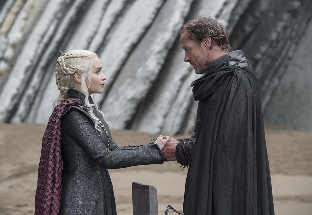 伊恩葛倫(右)在「冰與火之歌:權力遊戲」從首季起就與艾蜜莉亞克拉克有不少對手戲。...