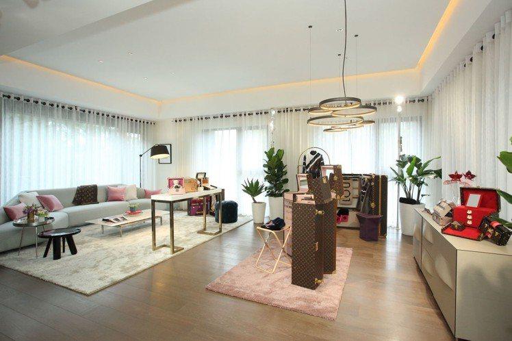 2樓為展現仕女優雅生活的樓層。圖/LV提供
