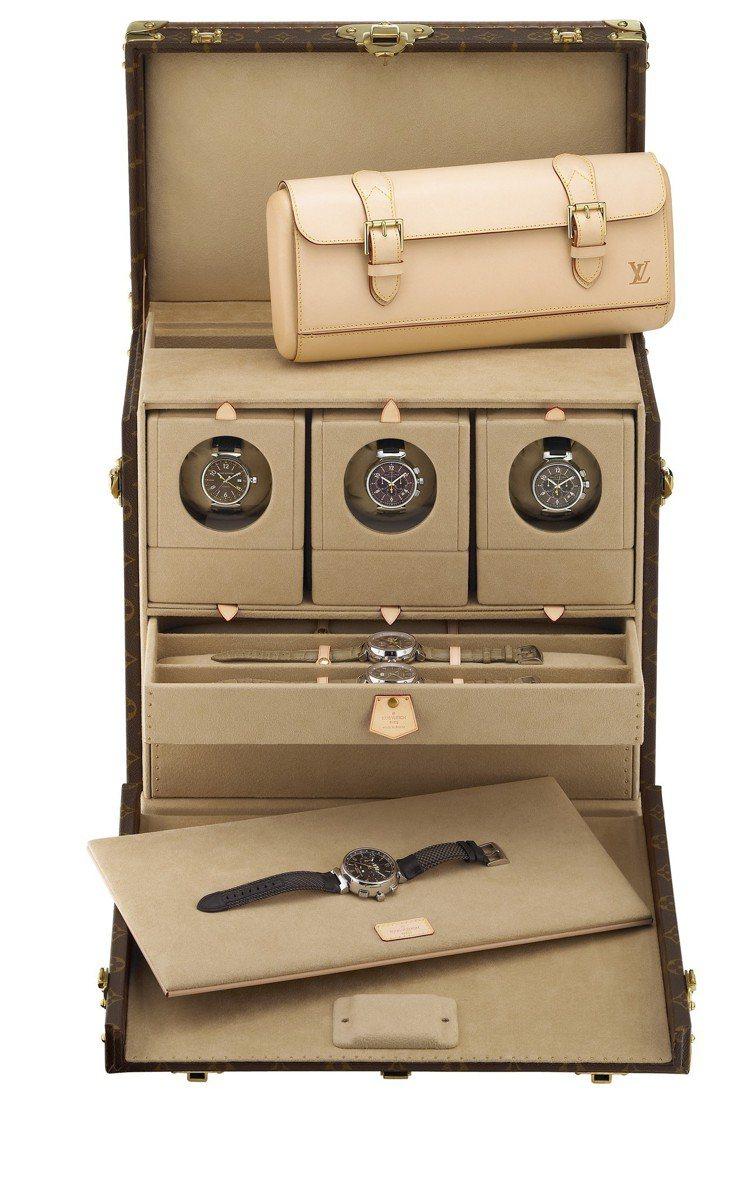 多款腕表箱盒。圖/LV提供