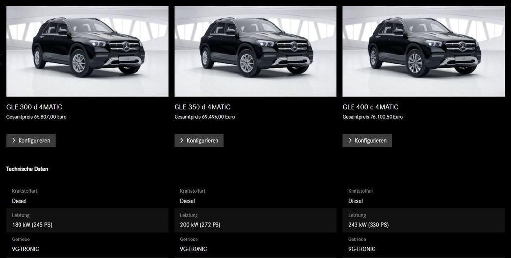歐洲市場目前已可預訂新世代Mercedes-Benz GLE,原廠計劃將於明年春...