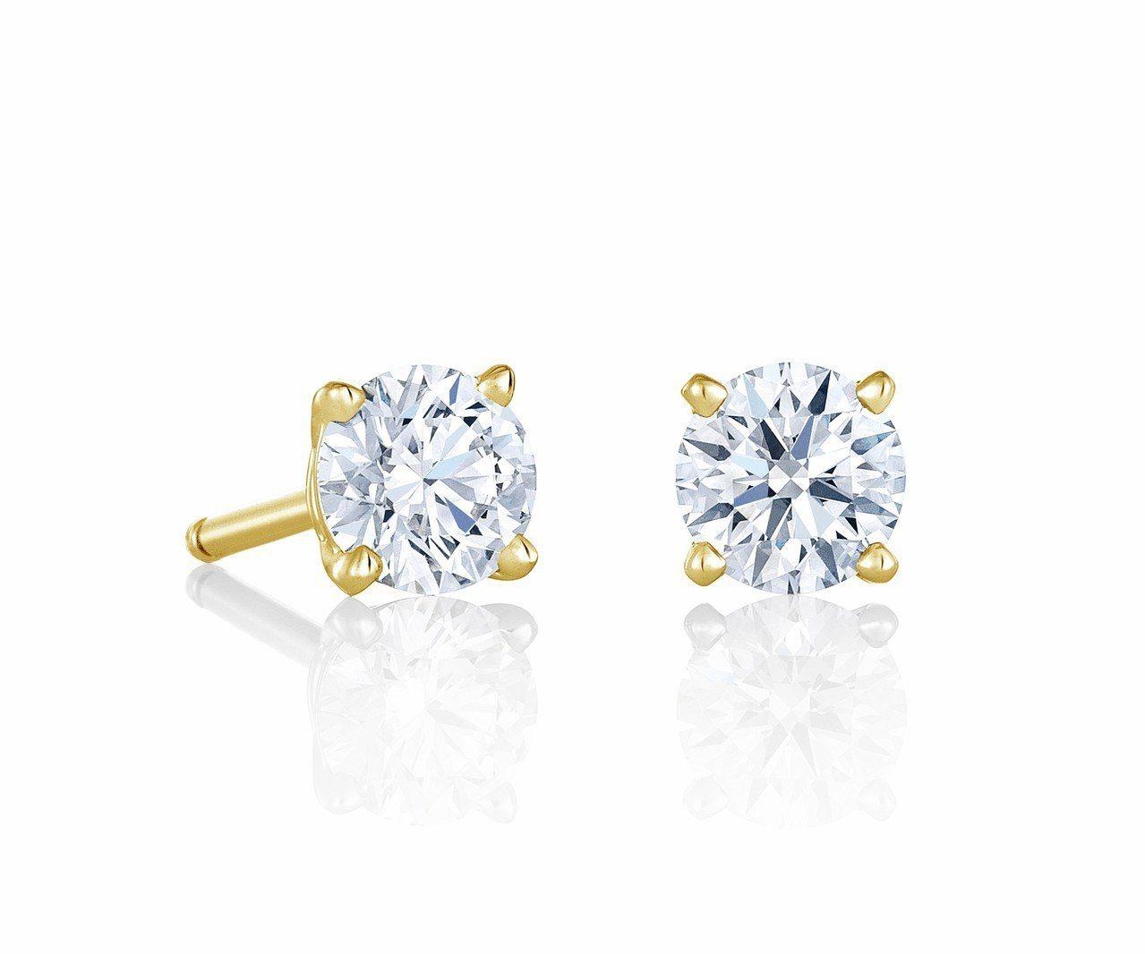 DB Classic 18K黃金單鑽耳環,主鑽0.30克拉款式,14萬2,000...