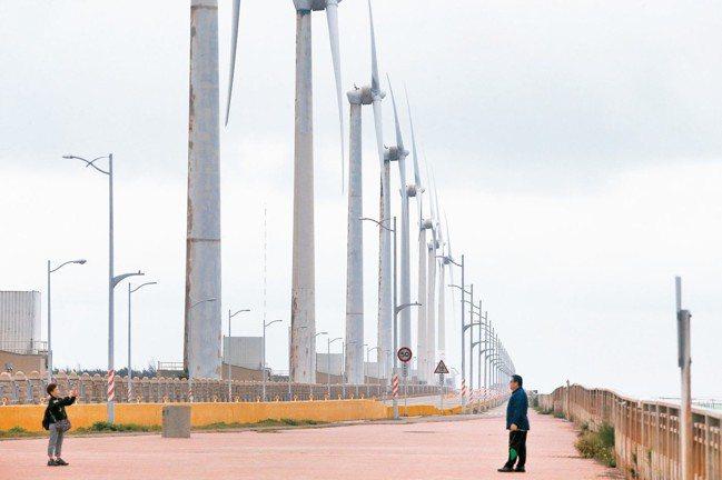 政策利多,離岸風電有題材,概念股今股價連袂向上。 報系資料照