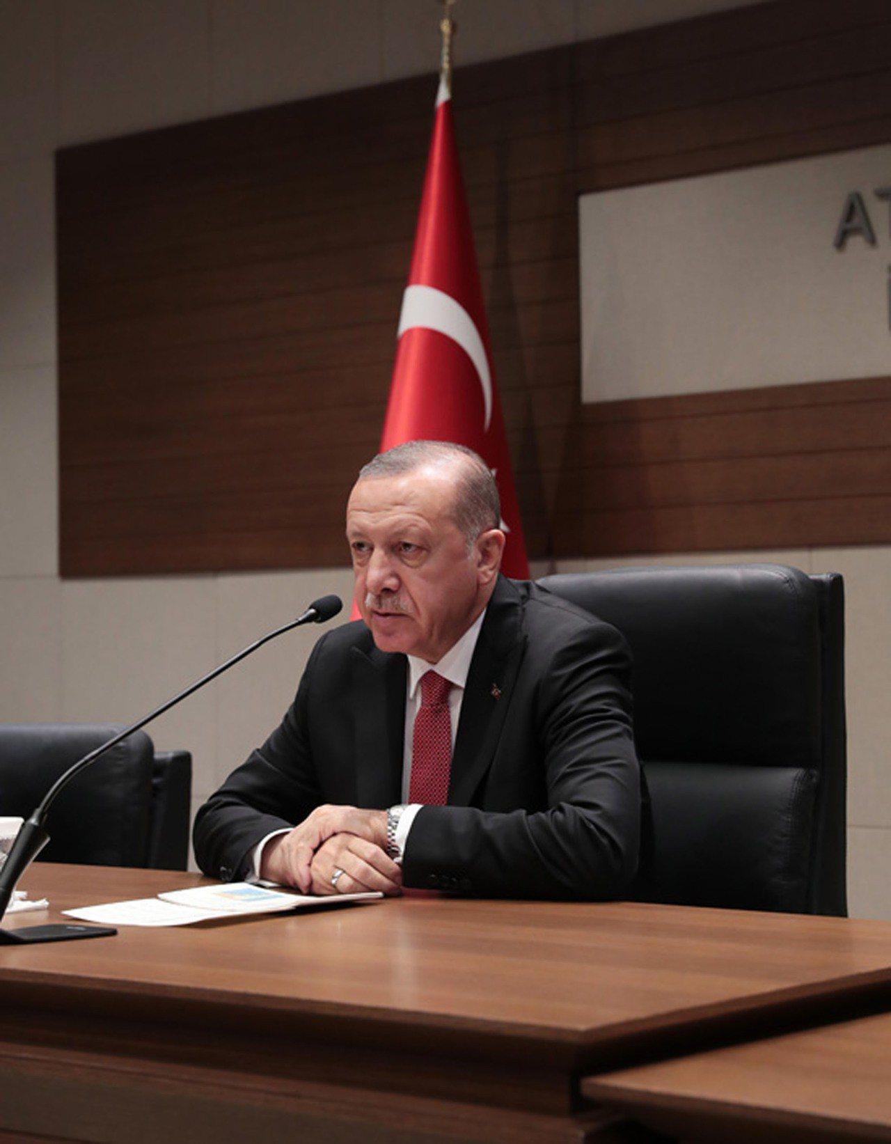 土耳其總統艾爾段。(土耳其總統府提供)