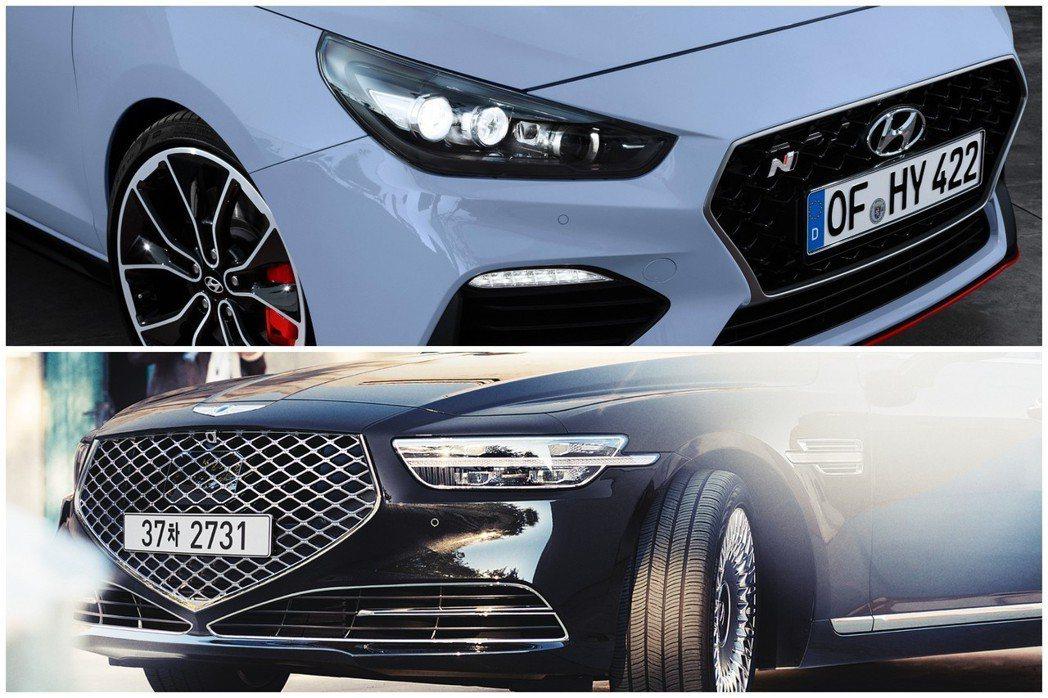 Hyundai在近年成立了N Performance性能子品牌,與豪華子品牌Genesis。 摘自Hyundai、Genesis