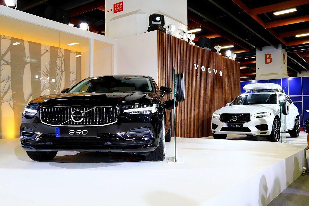 Volvo汽車在台北新車大發表新年式S90以及V90 Cross Country兩大旗艦車款。 記者張振群/攝影