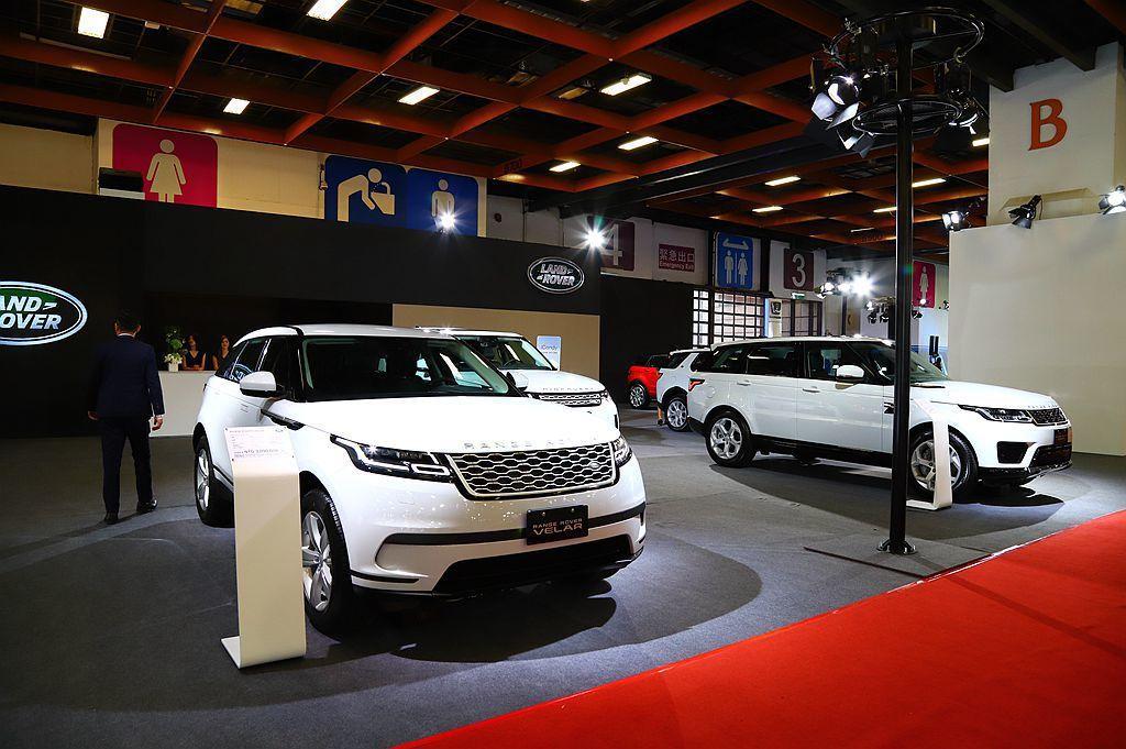 Land Rover則由Range Rover Velar及Range Rover Sport為這次車展重點。 記者張振群/攝影