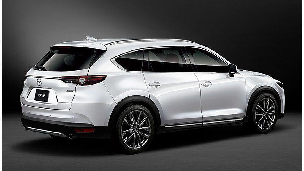 Mazda CX-8將輪框升級到20吋,大幅增加車輛外觀視覺張力。 圖/Mazd...