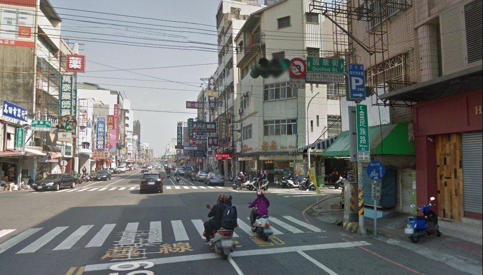 嘉義市的民族路全長約2.3公里 圖片來源/google街景地圖