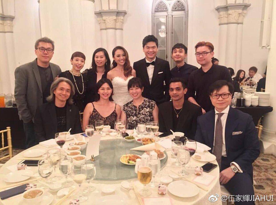 孫燕姿參加朋友婚宴。圖/擷自weibo/a>。