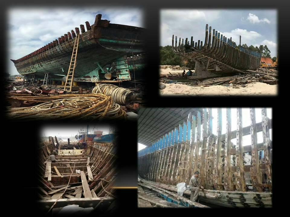 老木創藝板取材自60年代的老漁船 九如/提供