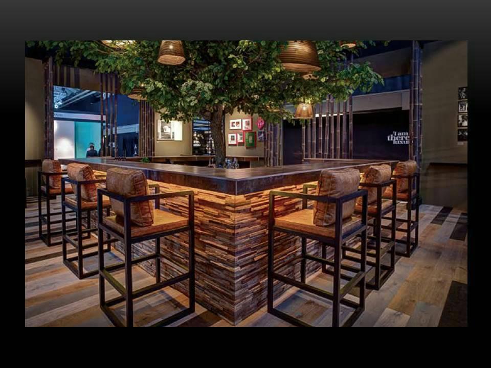 「老木創藝板」應用於商業空間 九如/提供