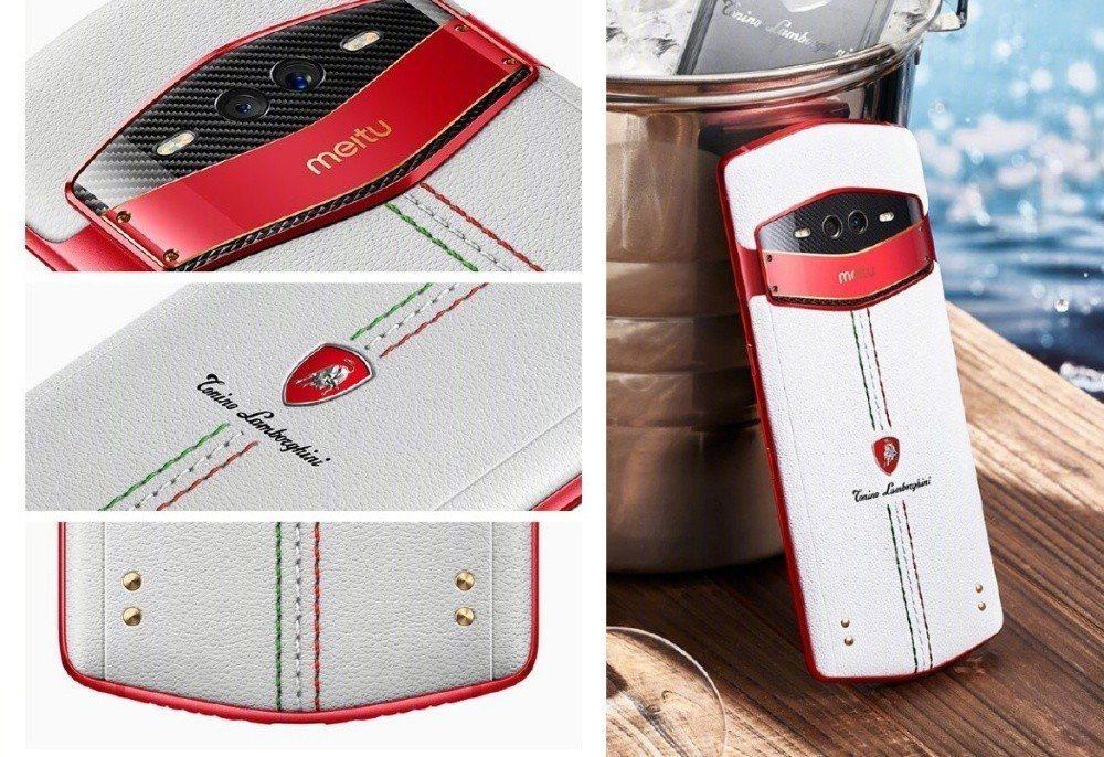 與藍寶堅尼時尚品牌Tonino Lamborghini合作的美圖V7限量款
