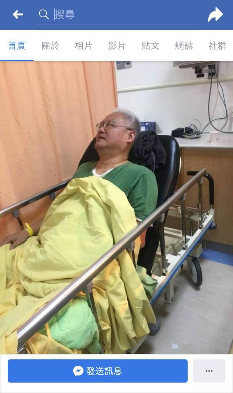 范可欽日前受傷送醫畫面。圖/取自市議員應曉薇臉書