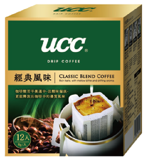UCC經典風味濾掛式咖啡。 圖/全聯提供