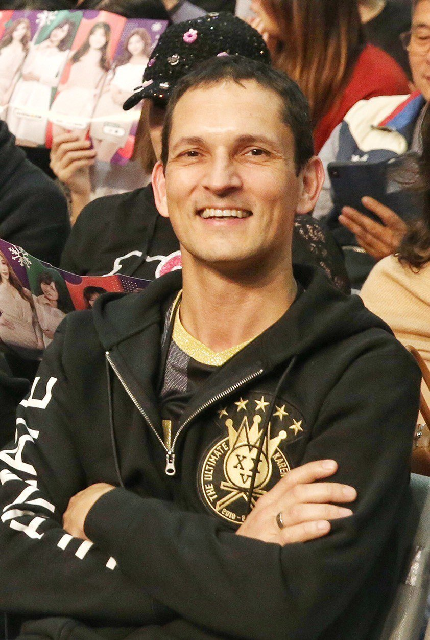 莫文蔚老公Johannes在台下當歌迷。記者林伯東/攝影