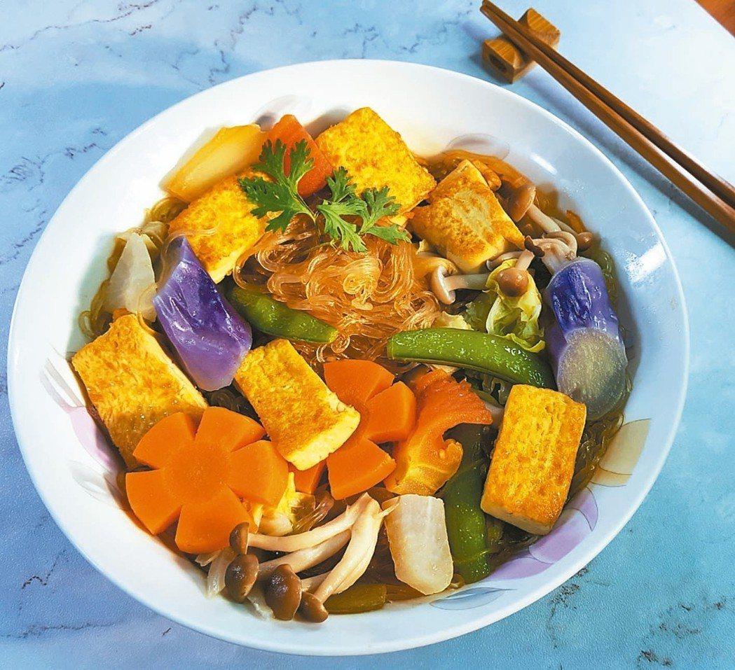時蔬豆腐粉絲煲(1人份)