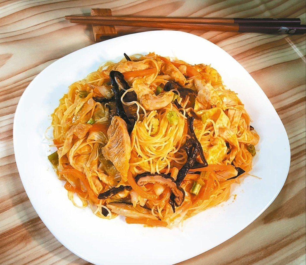 金瓜什錦雞肉米粉(2人份)