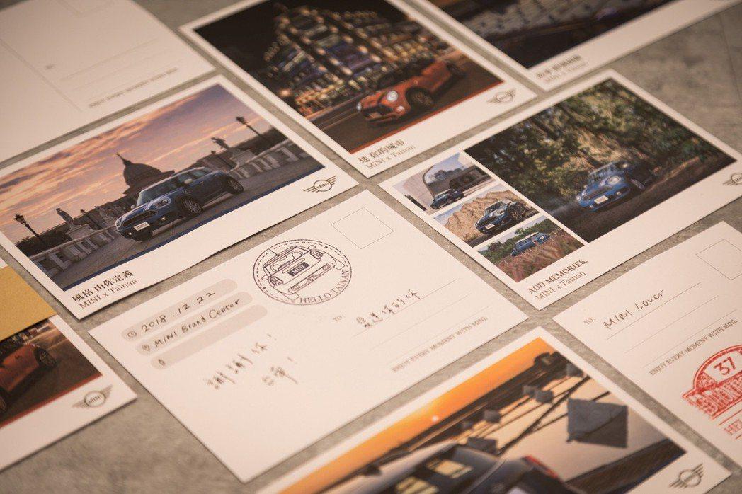 品牌概念館限定-MINI x Tainan旅行明信片。 圖/汎德提供