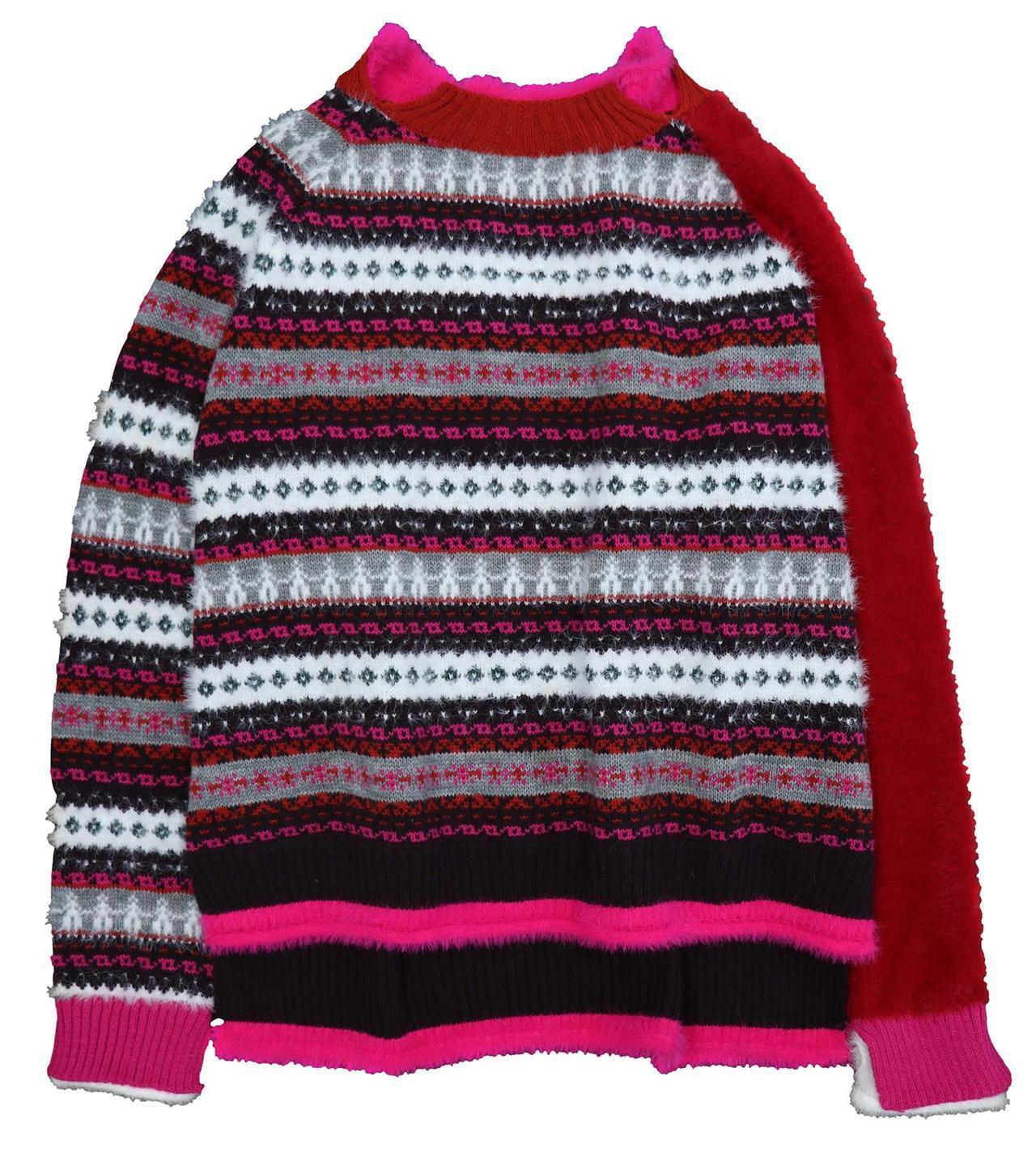 AS KNOW AS經典造型毛衣(紅),5,590元。圖/滿心提供