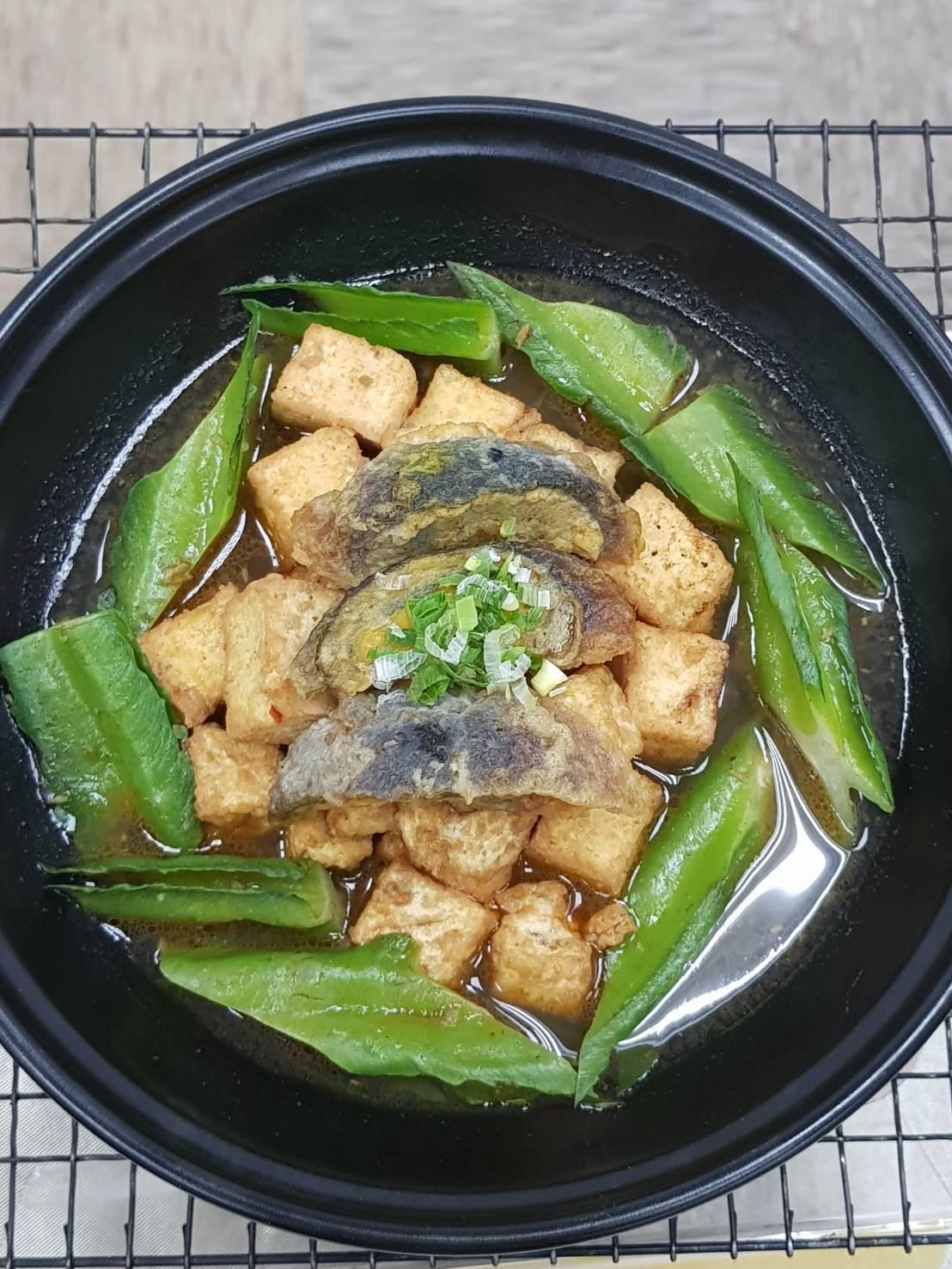 皮蛋豆腐砂鍋堡。記者彭宣雅/攝影