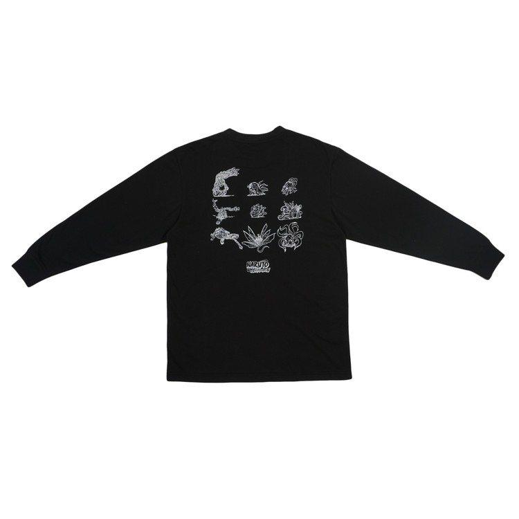 New Era火影忍者聯名系列九尾獸長袖T恤,1,780元。圖/New Era提...