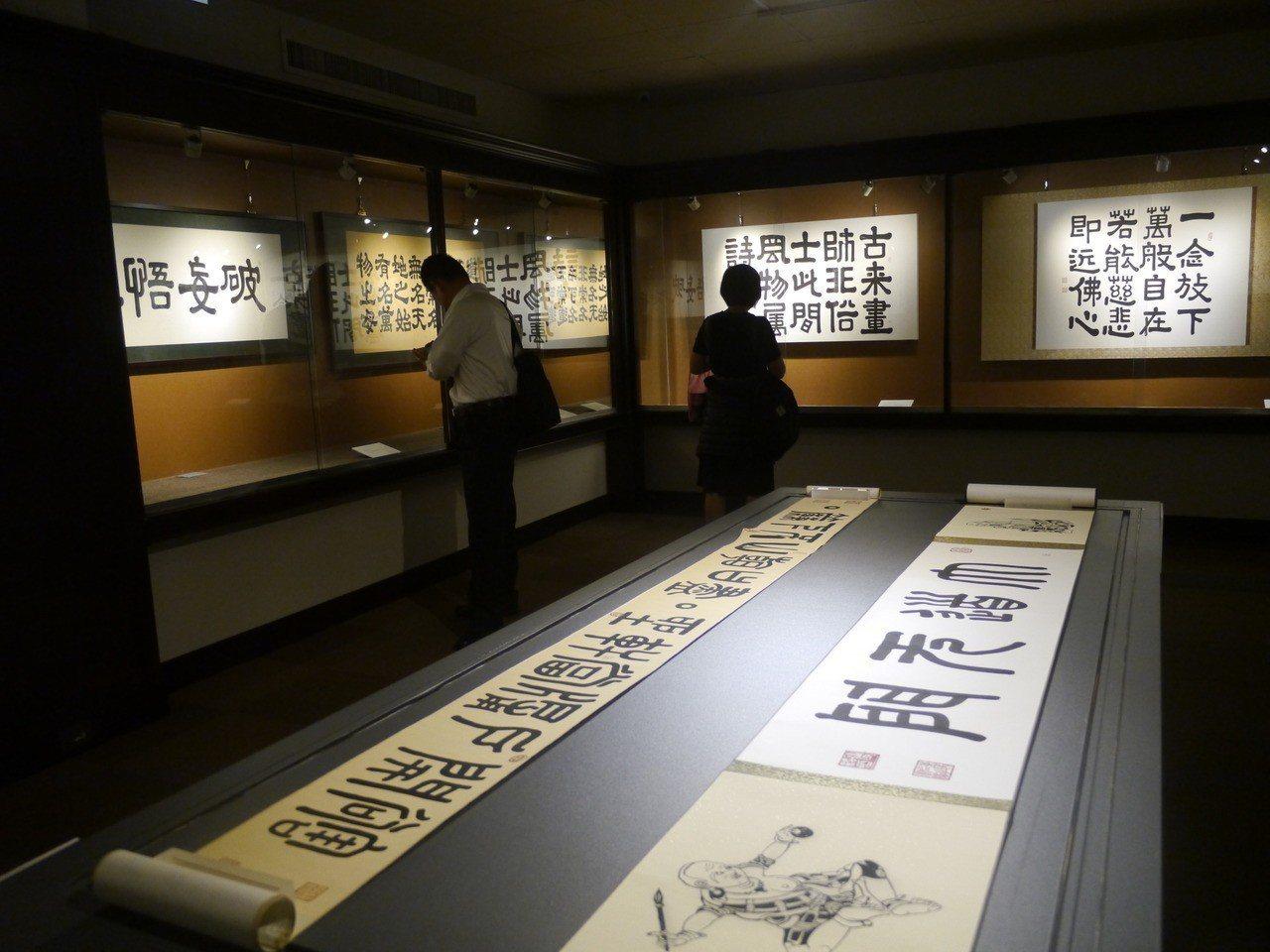 佛光緣美術館舉辦Gary Edson翰墨展。記者徐白櫻/攝影