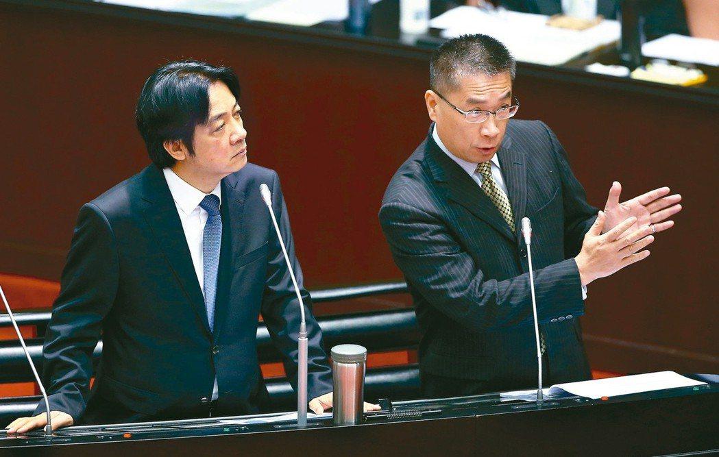 行政院長賴清德(左)、內政部長徐國勇(右)。圖/聯合報系資料照片