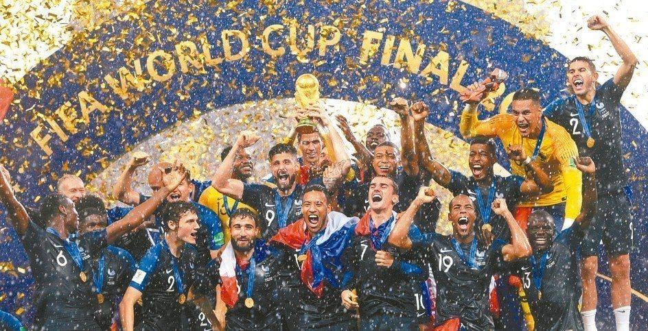 愛爾達電視因轉播世足賽一炮而紅,圖為法國隊勇奪2018世界盃冠軍。 歐新社