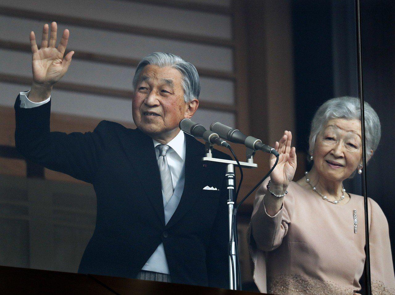日皇明仁與妻子美智子。 歐新社