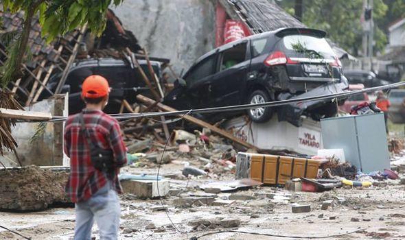 印尼海嘯造成222人死亡、超過800人受傷。歐新社