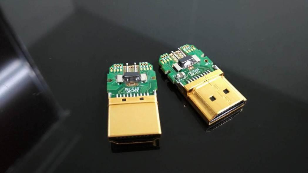 聯葳光電研發新技術 打造全世界第一條符合8K規格的HDMI傳輸線。 聯崴光電/提...