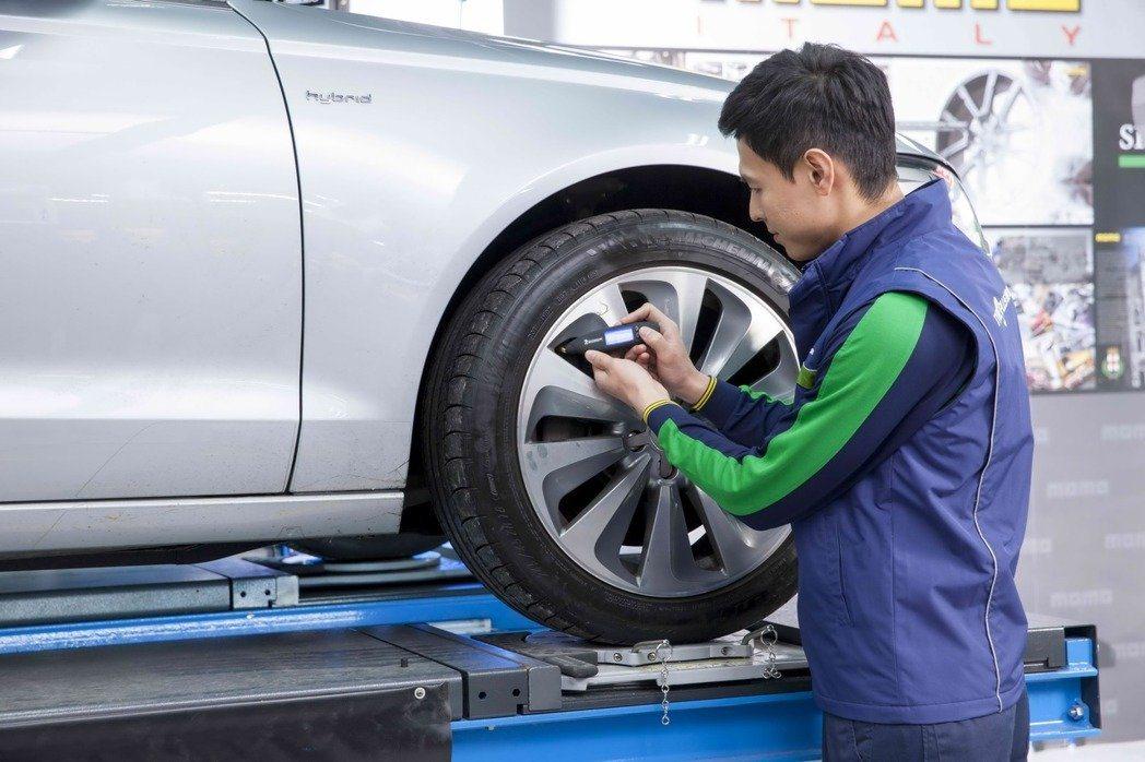 行車最重要的就檢查輪胎。 圖/陳庭威 提供