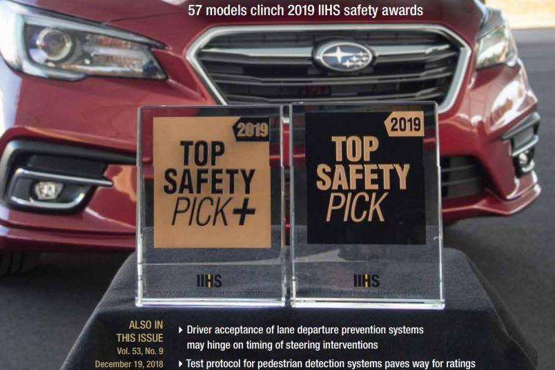 美國IIHS公佈2019年度TSP+入圍車款 韓系品牌就有12款!