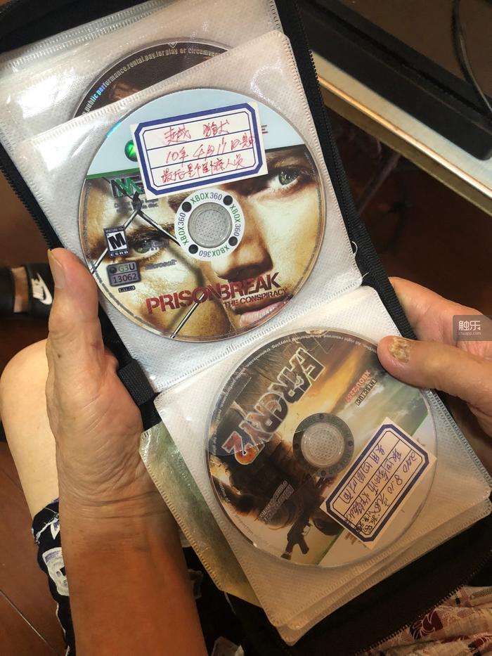 專門用來存放「已通關遊戲」的光碟夾,上頭都會標記「通關時間」和「遊戲結果」。